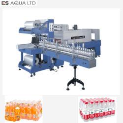 زجاجة مياه آلية تقلص غشاء التغليف ماكينات التعبئة