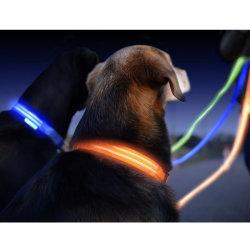 LED-Hundehalsring-leuchten das glühende Haustier-Sicherheits-Muffen-Silikon, das Cuttable ist, Hundehalsring-Lichtern für Nachthundedas gehen Anti-Verloren