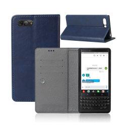 Fessura per carta di cuoio semplice di disegno di caso della parte posteriore del telefono delle cellule per la mora Key2/Key due