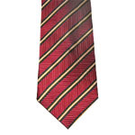 Cravatta di seta tessuta di colore rosso di alta qualità degli uomini