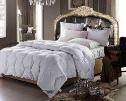 100% Premium Royal 750 Fp estabelece o enchimento edredão de penas de ganso branco Quilt Edredons