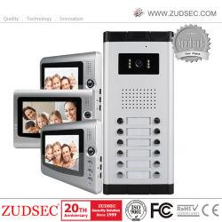 ホームセキュリティーのドアエントリ通話装置のためのカラービデオのドアの電話