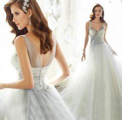 عروس عباءة مثير [درم] أميرة [مش] [لس] [غري] [تريل] سيّدة عرس ثوب