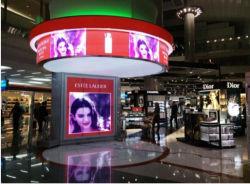 Мягкий светодиодной панели дисплея со шторкой гибкие изогнутые светодиодный дисплей видео стены реклама светодиодный экран