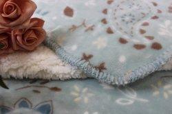 デザイン(印刷される葉)のポリエステルSherpaの羊毛毛布