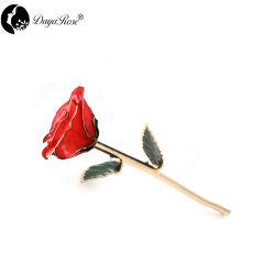 Jeu de rouge européenne avec or 24K (fleurs) cadeau de promotion