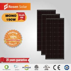 Rosen Mono 190 واط أسود للوحة الشمسية بقوة 190 واط للإضاءة الشمسية النظام