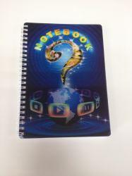 Groothandel A4/A5/A6 PP cover 3D Notebook met spiraaldraad Lenticulair Voorraad van het kantoor van de dekking