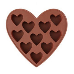 Настраиваемый логотип сердце Силиконовой шоколад DIY Bakeware пресс-формы