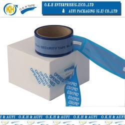Couleur bleu Matériaux Pet Bande de sécurité de l'emballage Okh
