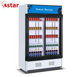 De rechte Showcase van de Frisdrank van de Ijskast van de Vertoning van het Sap van de Drank van de Schuifdeur van de Supermarkt (Hg-800AT)