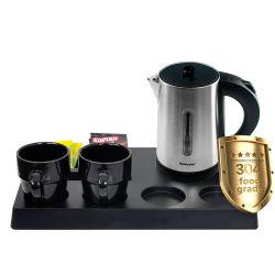 Gastfreundschaft-willkommene Tellersegment-Sets und niedriges Leistung- in Wattmetallelektrischer Kessel für Hotel