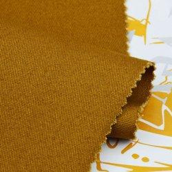 Buena calidad de algodón orgánico Spandex Twill tejidos de prendas de ropa de mujer pulido