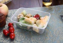 L'extérieur 500ml Plastique / 16oz Boîte à lunch jetable conteneur rectangulaire de la vaisselle pour l'alimentation / de la Pizza