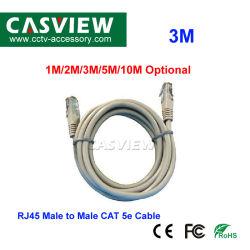 Câble RJ45 de 3m Âme en cuivre RJ-45 du connecteur mâle à mâle 10M/100m générale du réseau de bureau et de l'utilisation d'accueil