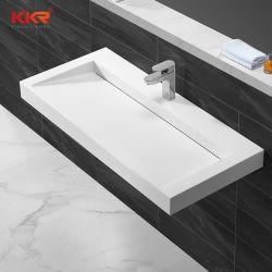 Nous Salle de bains chauds sur le marché de la vente de la vanité inséré linéaire de drainage du bassin de lavage Wall-Hung lavabo