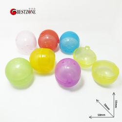Spedizione gratuita capsula di 2.17*1.97 pollici ovale vuota di plastica giocattolo per distributori automatici 50*55mm