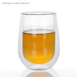 La copa de cristal de vidrio de doble pared taza de té de la copa de vino Café cristalería