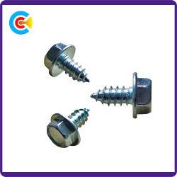 Verzinkte Hex Kopf-Gewindeschneidschraube-Hex Flansch-Schrauben-Stahlschraube