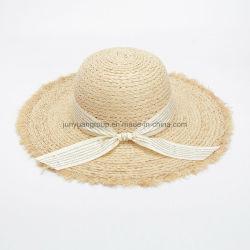 Cappello flessibile di vendita della treccia elegante calda della paglia con nastro adesivo della stampa