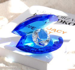 De gevoelige Shell van het Kristal van de Decoratie van het Huis Mossel van het Kristal van de Diamant