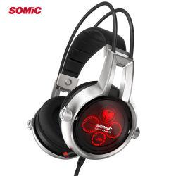 Cuffia avricolare multicanale di gioco di vibrazione 5.2 reali di Somic E95X con il microfono