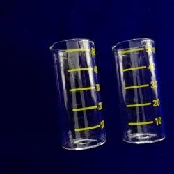 Bibo de gros fond plat de verre de quartz clair tube à essai