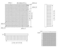 1.5インチ16X16はドットマトリックスピッチ2.5mmが付いているカラーLED二倍になる