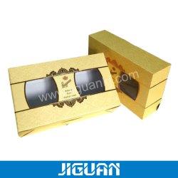 Cartone rigido di carta su ordinazione di lusso che impacca chiusura magnetica con il contenitore rigido pieghevole imballato piano di coperchio della finestra del PVC