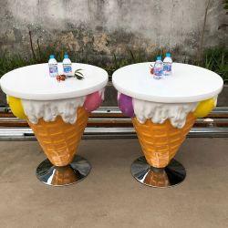 쇼핑을 위한 야외 맞춤형 아이스크림 테이블과 의자 프로스 몰 장식