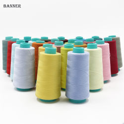 衣服のための回されたポリエステル縫う糸の綿ポリエステル縫う糸402の縫う糸