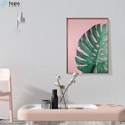 بالجملة [ه800مّ600مّ] فنّ اللون الأخضر ورقة [ولّ هنغ] صورة زيتيّة زجاجيّة ([مر-ب6-2061ا])