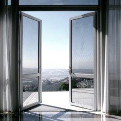 Fabricante de la Fábrica Real de aluminio insonorizada francés Casement columpio doble puertas