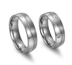 Anelli neri d'acciaio di titanio semplici del Mens dell'anello di barretta di disegno 8mm