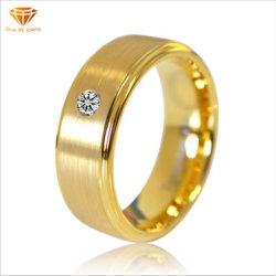 Jóias de Ouro Zircon IP tungsténio CZ Anel de ouro de tungsténio para homens e mulheresTst4229