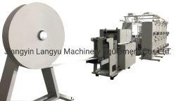 El papel de cinta portadora rebobinadora y cortadora longitudinal