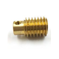 Personalizar pequeño gusano de latón de alta precisión el eje de la marcha del motor Mini Eje helicoidal