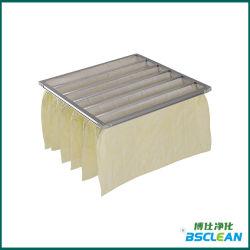 Média de fibras sintéticas lavável eficiente saco de pó Industrial Pocket Quarto limpo do filtro do filtro de ar