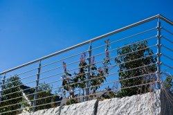 Corrimano di vetro esterno/dell'interno di disegno moderno ISO9001 dell'acciaio inossidabile con la balaustra/inferriata per il balcone/terrazzo/scala/scale dalla fabbrica della Cina