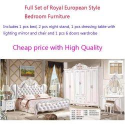 Royal quarto conjunto de móveis cama estilo europeu lindo mobiliário antigo
