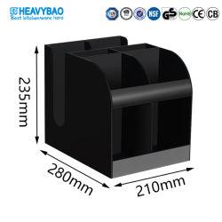 Acrílico Negro Heavybao condimento de azúcar en el bolsillo de almacenamiento de vasos de papel titular