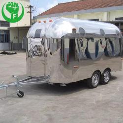 De mobiele Vrachtwagen van het Voedsel van het Roomijs van het Roestvrij staal van de Aanhangwagen van de Koffie van de Kar van de Hotdog van de Vrachtwagen van het Voedsel van de Luchtstroom
