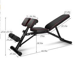 인클라인 연습용 벤치 덤벨 벤치 660 lbs의 무게 용량 조절