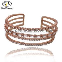 Venda por grosso 925 prata esterlina jóias Tamanho Aberto Bangle