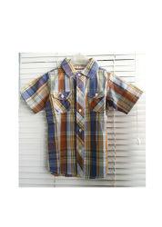 Gesponnene Hemden des Form-Sommer-Kindes kurze Hülse