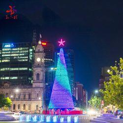 Im Freien riesige größere wasserdichte LED-helle Weihnachtsbäume mit Stern für Feier
