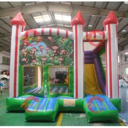 Purple Rubberable Bouncer Jumping Bounce House with Slide, 2019 nieuwe Printing Bounce Castle Combo