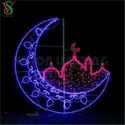 屋外都市通りの装飾のための熱い販売3D Ramadanロープのモチーフライト