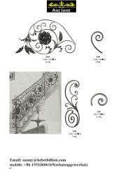 錬鉄の塀はパネルをはめる手すり構成階段要素(page110)に