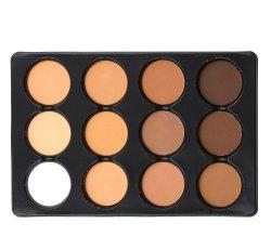 O logotipo personalizado Shimmer Highgloss espelho cosmético 12 cores Blusher Marcador Paleta de contorno Bronzer pressionado em pó